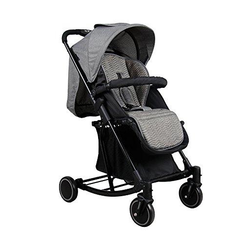 QXMEI Cochecito De Bebé Portátil Plegable Cuatro Estaciones Mecedora Puede Sentarse Cochecito Reclinable,Grey