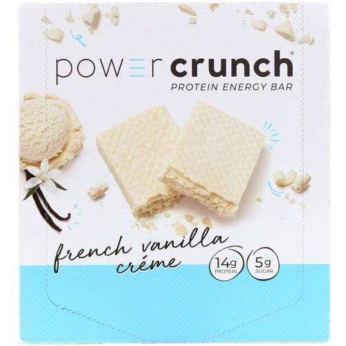 Power Crunch Protein Energy Bar Orignal, French Vanilla Creme, 1.4-Ounce Bar (Pack of 12) ()