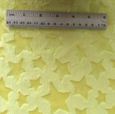 Lavenz 100x150cm Stars Embossed Minky Fleece Fabric Micro Mink DIY Sew Blanket Toy -
