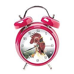 Mark Feldstein Wacky Wakers Red Rooster Bedside Tabletop Alarm Sound Clock