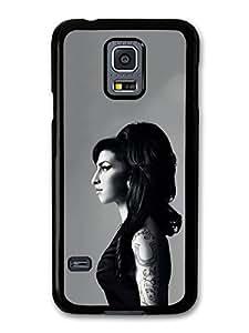 Amy Winehouse Black and White Posh Profile Portrait carcasa de Samsung Galaxy S5 mini