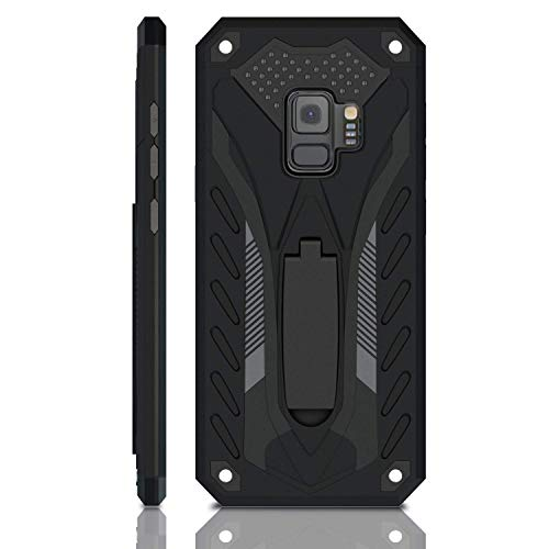 Kitoo Samsung Galaxy S9 Case |  Military Grade | 12ft. Drop Tested Protective Case | Kickstand | Wireless Charging | Compatible with Galaxy S9 - Black