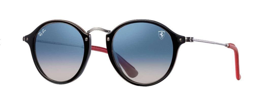 Ray-Ban Sunglasses Black/Blue Plastic - Non-Polarized - 49mm
