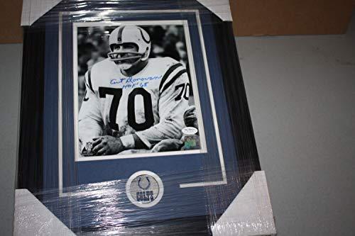 Baltimore Colts Art Donovan Autographed Signed Framed 8x10 Photo HOF 1968 Memorabilia - JSA Authentic