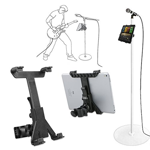 "Music Microphone Stand Holder Mount For 7-11"" Tablet iPad Ai"