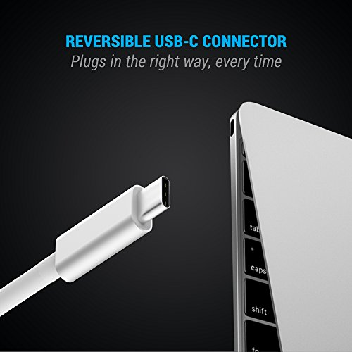 MAKETECH Ultra Slim Aluminum USB Type-C HUB with 3 USB 3.0 Data Ports and 1 USB-C Passthrough Charging Port for New Macbook Pro 2016, New Macbook 2015/2016, Chromebook Pixel and More Type-C Devices by MAKETECH (Image #1)
