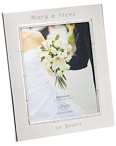 Lenox Devotion 8x10 Personalized Picture Frame, Engraved Frames, Custom Photo Frame