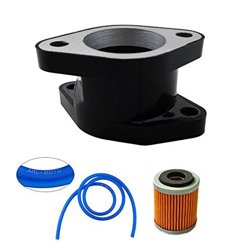 - AHL Carburetor Intake & Oil Filter & 100cm Oil Tube Kit for YAMAHA YFM350 YFM350X Warrior 350 1987-2004 replace 1UY-13586-02-00