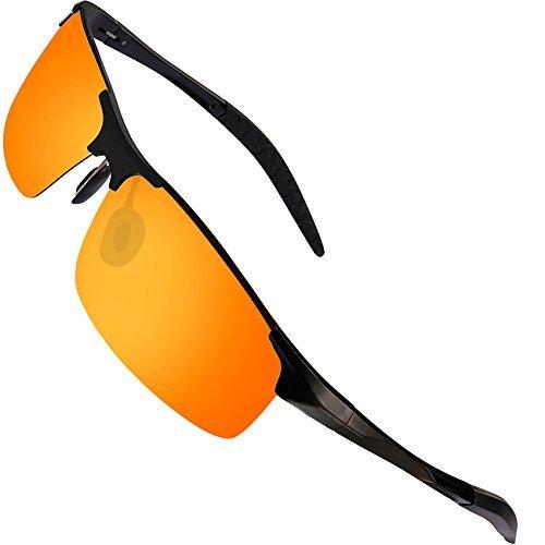 a5882d9acaa FEIDU Polarized Sunglasses for Men - HD Lens Metal Frame Driving Sport  Sunglasses FD 9005 (
