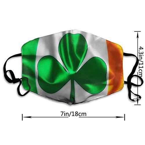 NEWKOW Mask, Anti-Dust Mouth Mask Cute Face Mask Shamrock Irish Flag