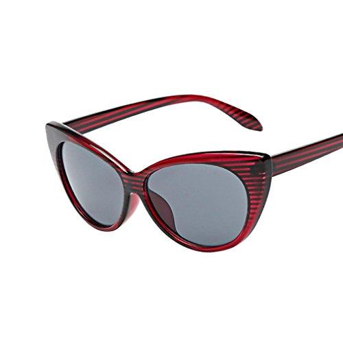 QingFan Women Men Summer Aviator Retro Cat Eye Glasses Unisex Fashion Sunglasses Kids Metal Frame (C, - Cheap Childrens Eyeglasses