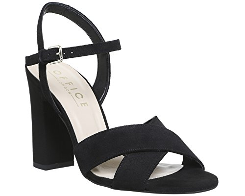 Sandals Two Suede Office Black Part Hazel wqpyUt1