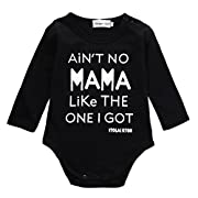 Newborn Infant Baby Boy Clothes T-shirt Aren't Mama Like The One I Get Romper Set (12-18 Months, Black)