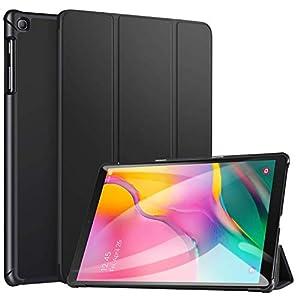 ATF Case for Samsung Galaxy Tab A 10.1 2019, Ultra Slim Lightweight Trifold Stand Smart Folio Case Hard Cover for Samsung Tab A 10.1 Inch Tablet SM-T510/SM-T515 2019 Release – Black