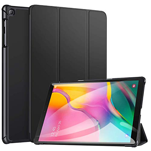 ABOUTTHEFIT Ultra Slim Lightweight Trifold Stand Smart Folio Case Hard Cover for Samsung Galaxy Tab A 10.1 Inch 2019,(Black) (Will Not Fit Lenovo Tab M10)