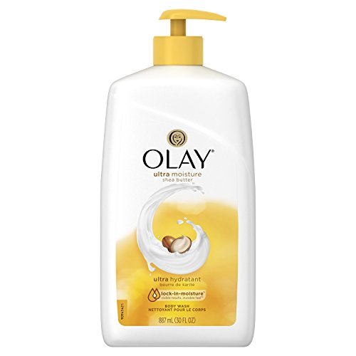 Olay Ultra Moisture Shea Butter Body Wash, 30 Fluid Ounce (Best Long Lasting Body Wash)