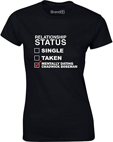 ing Chadwick Boseman, Ladies T-Shirt - Black/White L = 6-8 (Chadwicks Black Shirt)