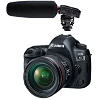 Canon EOS 5D Mark IV with EF 24-70mm f/4L IS USM Lens - With Tascam DR-10SG Camera-Mountable Audio Recorder with Shotgun Microphone