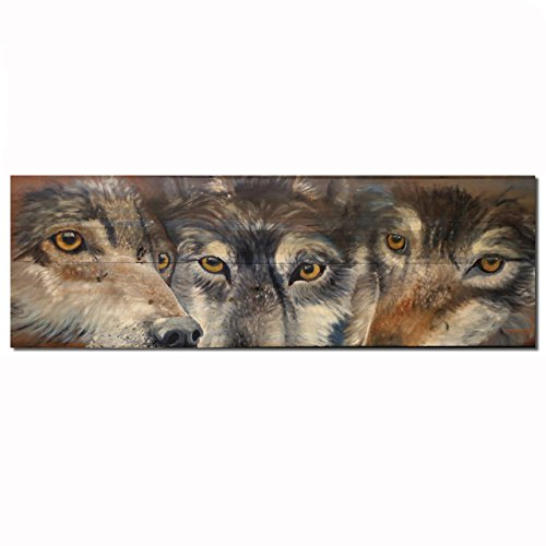 WGI-GALLERY WA-TCCW-248 Too Close For Comfort Wolve Wall Art