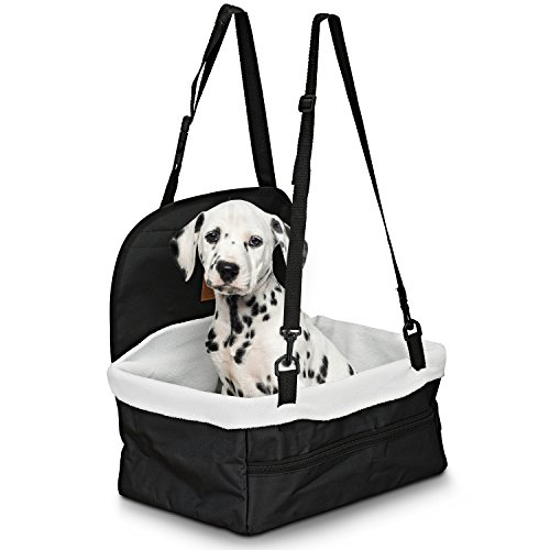 Parkland Pet Pet Car Booster Seat, Dog Ride, Includes Safety Leash and Zipper Storage Pocket