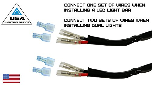 Amazon com 1 40 amp universal wiring harness for off road led light bar lights amazon com 1 40 amp universal wiring harness for off road led light bars relay on off switch and led work light lamps atv, utv, truck, suv, polaris razor