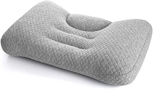 Maywind Bed Neck Pillow, Adjustable Cervical Pillow for Sleeping, Filling Innovative PE Pipes for Side Back Stomach…