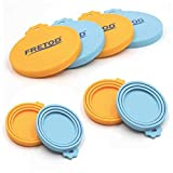 Pet Can Lids - 4 Pack - BPA Free Silicone Cat Dog Food Can Cover- One Size fits All Standard Size Can Top