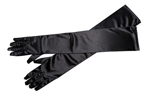 Utopiat Audrey Style Long Black Satin Gloves Inspired By Breakfast At Tiffany's