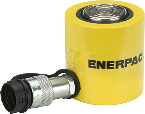 Enerpac RCS-201 Single-Acting Low-Height Hydraulic Cylinder with 20 Ton Capacity, Single Port, 1.75'' Stroke Length by Enerpac