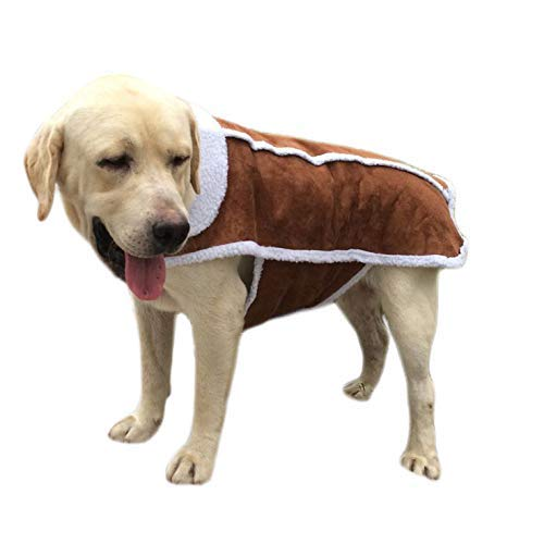 RSHSJCZZY Large Big Dog Puppy Coats Keep Warm Clothes Puppy Winter Outdoors Sport Clothing ()