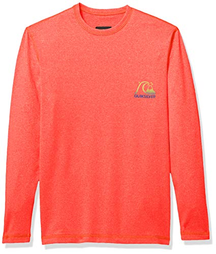 Quiksilver Big Boys' Heritage SURF TEE Long Sleeve Youth UPF 50 Sun Protection, Coral Heather, S/10