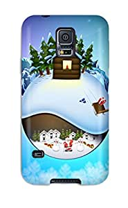 6151629K69390733 Top Quality Case Cover For Galaxy S5 Case With Nice Christmas In December Appearance