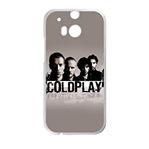 HTC One M8 Cell Phone Case White Coldplay Rock Band JSK763006