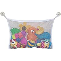 baby Toddler Bath Tub Toys Organizer Storage Durable Design 2 Extra Strong Suction Cups Large Storage bag Holder for Toys Even as a Shower Caddy and Baby gift Mold Free Playtime for Bathtime