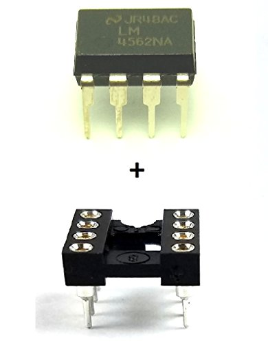 Speed Op Amp - National Semiconductor LM4562NA Dual High-Performance, High-Fidelity Audio Operational Amplifier & 8-Pin DIP Sockets with Machined Contact Pins Breadboard-Friendly (Pack of 5)