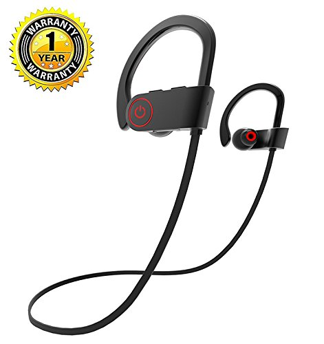 Bluetooth Headphones,Geman Best Wireless Sports Earphones with Mic & Siri Over Ear IPX7 Waterproof HD Stereo Sweatproof Earbuds for Gym Running Walkout 8Hours Battery Noise Cancelling Headsets