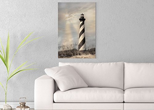 Cape Hatteras Lighthouse Canvas - Cape Hatteras Lighthouse Printed on 20x30 Canvas Wall Art by Pennylane