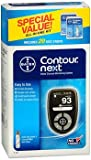 Contour Next Blood Glucose Monitoring System, Black - 1 each, Pack of 4