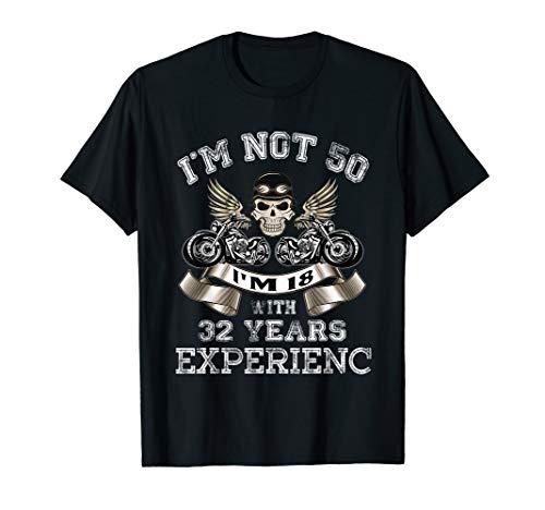 Vintage Birthday 50 Biker Shirt I'm Not 50,I'm 18 Years -