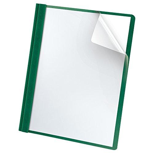 Oxford Premium Clear Front Report Covers, Dark Green, Letter Size, 25 per box (58817)