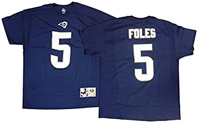 Nick Foles St Louis Rams Blue Eligible Receiver II Jersey Name and Number T-shirt