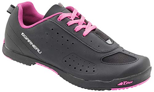 Louis Garneau Women's Urban Bike Shoes, Black/Pink, US (8), EU (39)