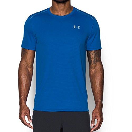 Under Armour Men's CoolSwitch Run Short Sleeve, Blue Marker/Blue Marker, - Men Run The On