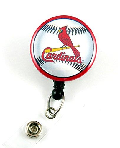 Cardinals Inspired Mylar - Nurse Badge Reels - Retractable ID Badge Holder - Nurse Badge - Badge Clip - Badge Reels - Pediatric - RN - Name Badge Holder