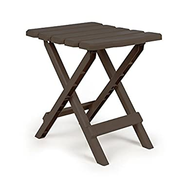 Camco 51882 Regular Quick Folding Adirondack Side Table - Mocha
