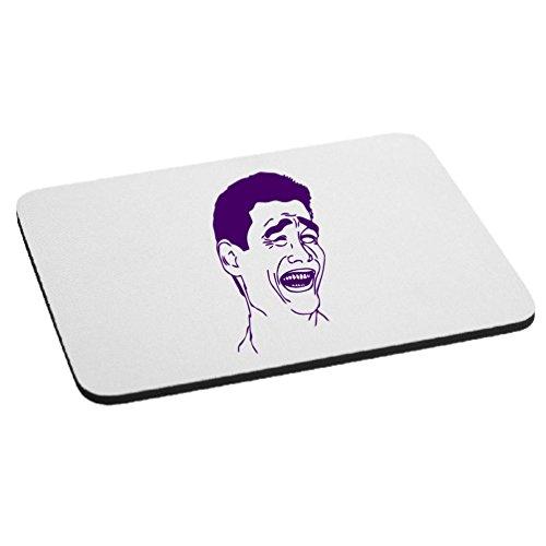 Yao Ming Bitch Please Meme Face Mouse Pad - Purple -