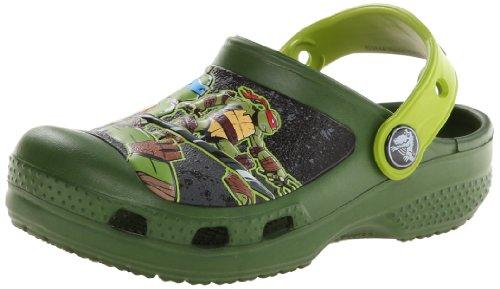 Crocs CC TMNT Clog (Toddler/Little Kid/Big Kid),Seaweed/Volt Green,4 M US Toddler