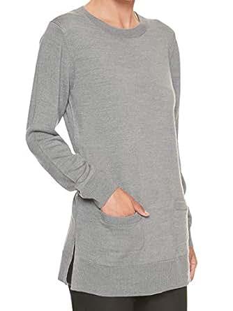 Banana Republic Womens Crewneck Pocket Front Tunic Sweater