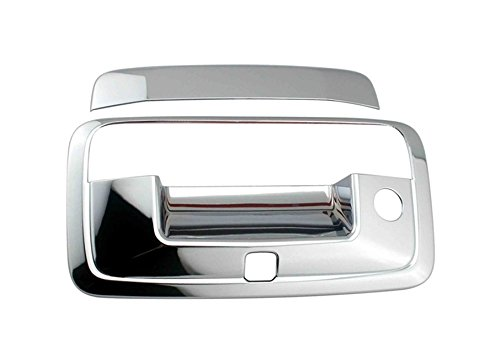 EZ Motoring Chrome Tail Tailgate Handle With Keyhole & Camera Hole Cover for 2015-2018 GMC Canyon
