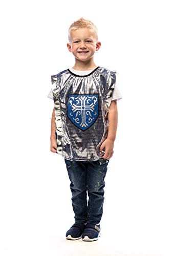 Little Adventures Knight Dressup Costume Vest (Blue, Large Age 5-9) -